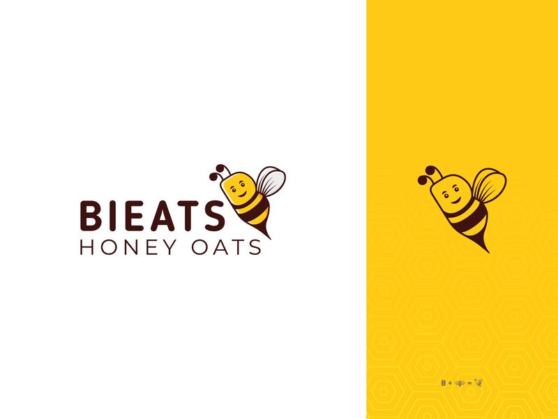 Bieats Honey Oats minimal logo manish christian oats honey honey bee bee logo b letter icon dribbble branding design illustration typography logo creative
