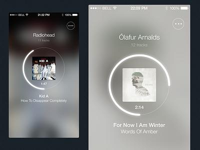Music Player app ui music player ios