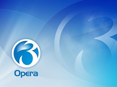 Opera 3 Branding logo branding