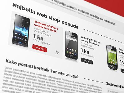 Tomato WebSite photoshop web design