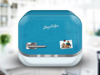 Smeg Fridge icon photoshop illustration icon mobile