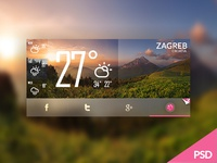 WhereTO with social notifications widget mobile photoshop app