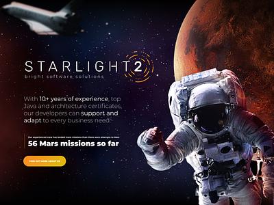 STARLIGHT2 Website illustration website web design space website design figma webdesign