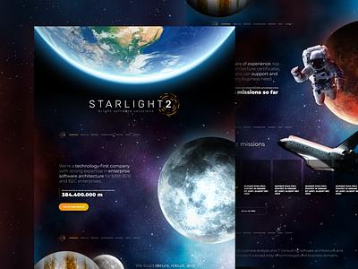 STARLIGHT2 Website parallax scrolling parallax effect parallax space figma website web design