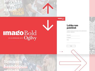 Imago Bold Agency Website horizontal scroll webdesign clean simple website web design