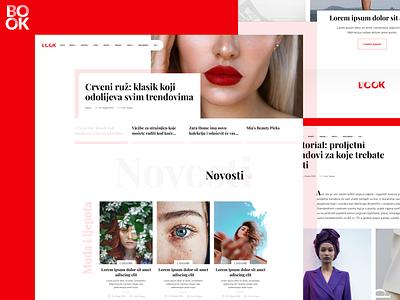 LookBook Fashion Magazine | Website figmadesign figma logo ui webdesign simple clean website design web