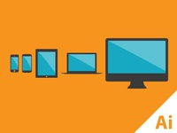 Flat Devices - Freebie - vector