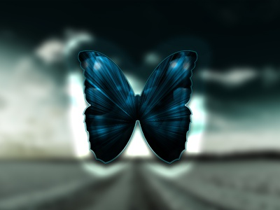 One Layer Style - Dark Butterfly  photoshop