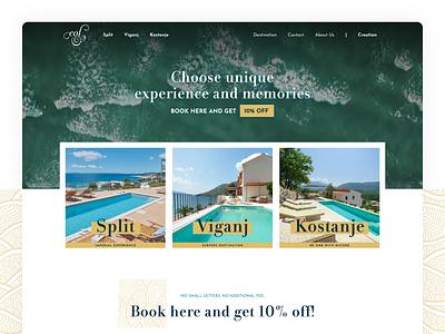 EOL Apartments | Croatia ui webdesign simple clean website web design