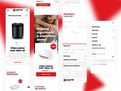 Master | Security Equipment Webshop ui webdesign simple clean website web design