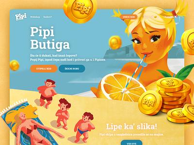 Pipi Butiga | Webshop ui webdesign simple clean website web design