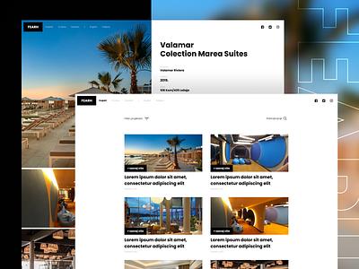 FEARH | Website ui webdesign simple clean website web design