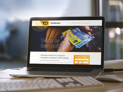 Hrvatska Pošta - HP - Croatian Post homepage clean user interface ux web webdesign design website photoshop