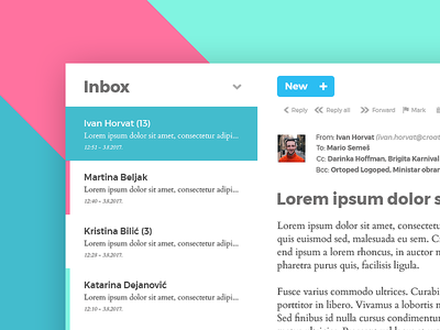 Email client - simple, clean simple clean email email client photoshop