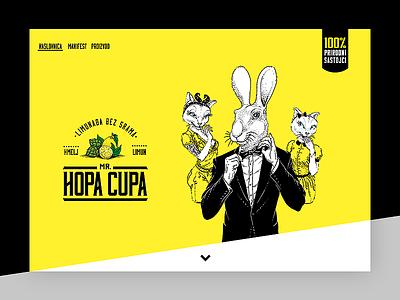 Lemonade without shame web web design webdesign design parallax simple website