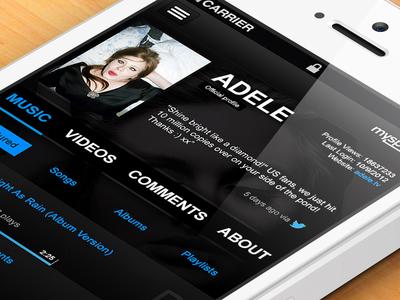 myspace iPhone app - for fun!
