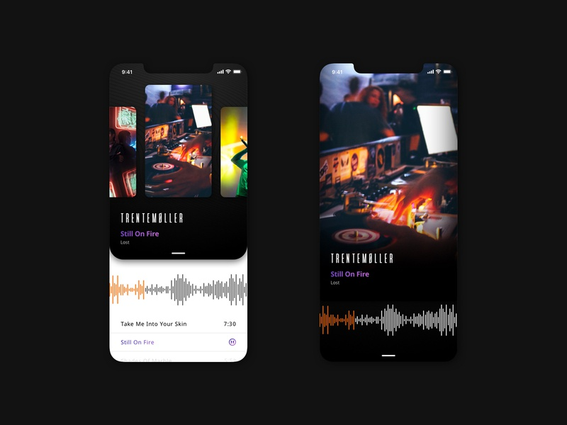 Music Playlist App Design dj concept player uxdesign design playlist music app mobile uidesign ux ui