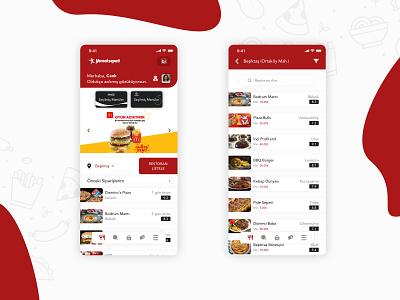 Yemek Sepeti Redesign yemeksepeti darkmode consept redesign order food mobile app uxdesign uidesign ux ui