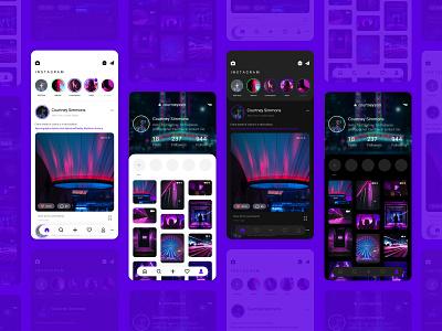 Instagram Mobile App Redesign instagram concept redesign dark mode mobile design app uxdesign ux uidesign ui