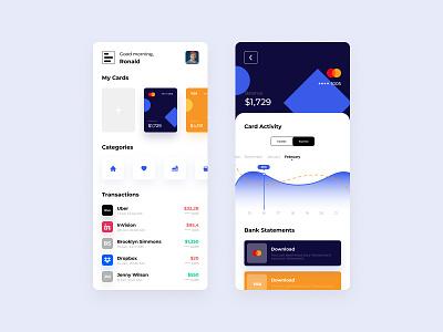 Finance Mobile App Design clean finance consept concept mobile design uxdesign uidesign appdesign ux ui app