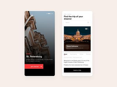 Travel Mobile App Design tour travel ui ux figma clean appdesign concept mobile design app uxdesign uidesign ux ui