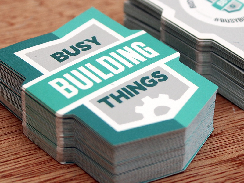 Busy Building Things Cards business cards die cut bbt