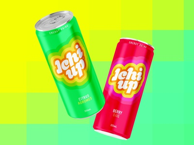 Ichi Up Drink Label typography design label can energy drink 1up ichi up