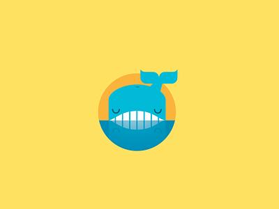 Whale Logo Concept whale logo narcissism illustration