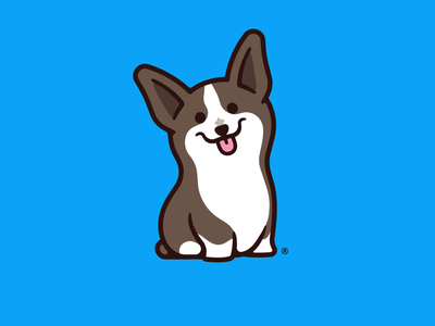 Bacon icon logo pup pupper doge cartoon kawaii cute puppy dog corgi illustration