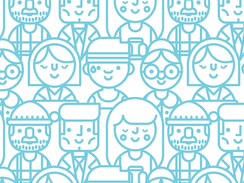 Repeatable People Pattern repeat pattern people illustration