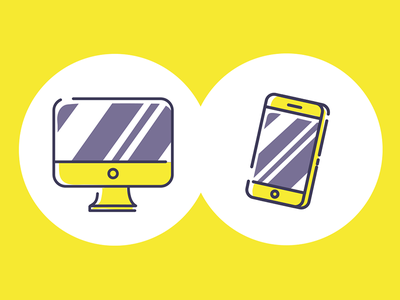 Device Illustrations icon desktop mobile imac iphone device
