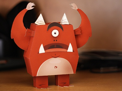 Paper Monster! paper monster rawr cyclops