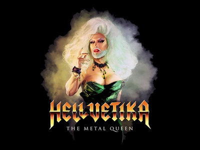 "Hellvetika ""The Dark Crystal"" Shirt Design boris vallejo airbrush illustration 80s the dark crystal labyrinth drag queen hellvetika tshirt"