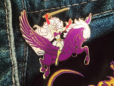 "Hellvetika ""Pegasus"" Enamel Pin"