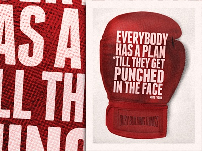 Everybody Has a Plan bbt busy building things mike tyson boxing glove