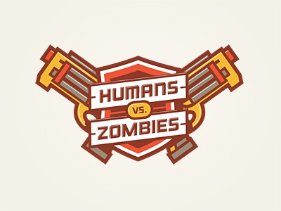 Humans vs. Zombies logo humans zombies nerf crest
