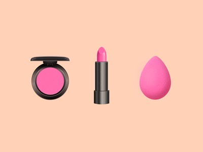 Makeup eyeshadow lipstick beauty blender realism makeup
