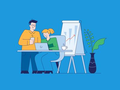 Office Collaboration Illustration cartoon illustration