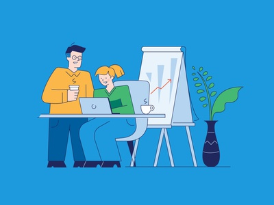Office Collaboration Illustration cartoon illustration