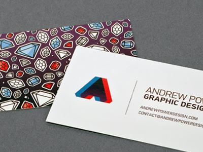 Business Cards business cards personal brand card identity logo spot varnish print cut photo gem diamond jewel 3d stock
