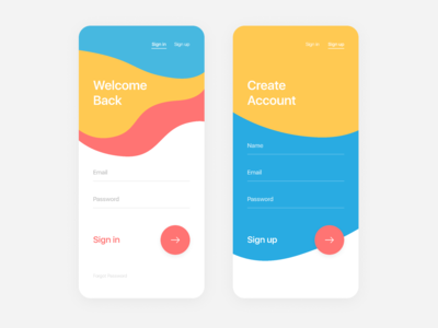 Sign in & Sign up | Daily UI #001