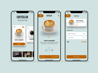 Coffee shop UI design