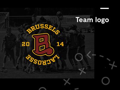 Brussels Lacrosse Logo vector illustrator squad bobcat beaver brussels logo sport lacrosse branding