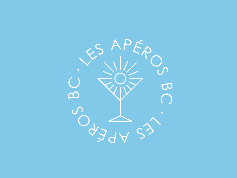LES APEROS BC logo sun young student event afterwork dj music party summer mojito apéro logo