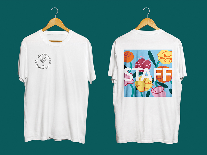 LES APEROS BC T-shirt sun young student event afterwork dj music party summer mojito apéro logo