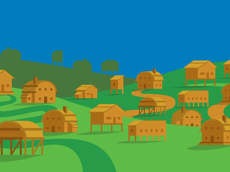 itsy bitsy village WIP cause good eu moodboard video justice environnemental illustration