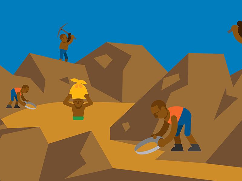 Slave workers WIP cause good eu moodboard metals mining workers slave video justice environnemental illustration