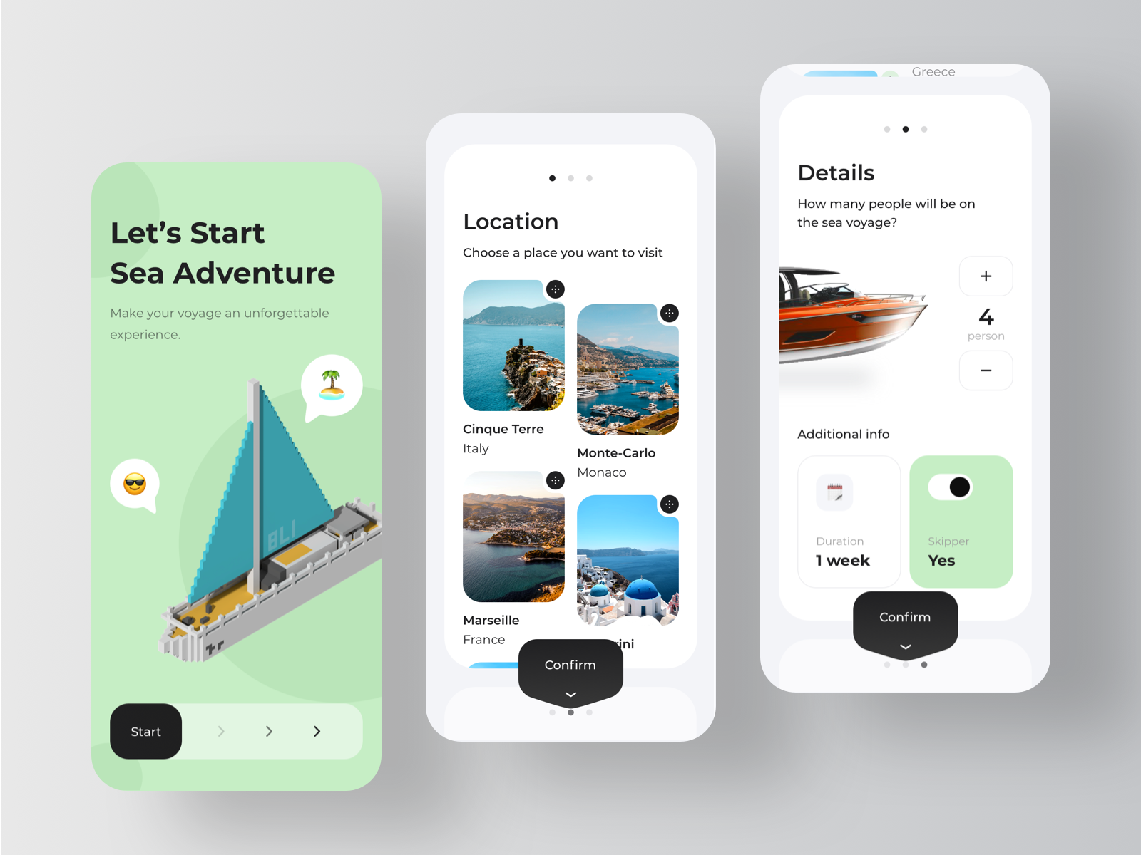 Yacht Booking Service Application - Onboarding