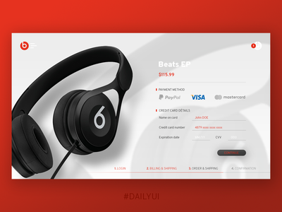 Daily UI 002 Credit card checkout challenge web webdesign checkout dailyui