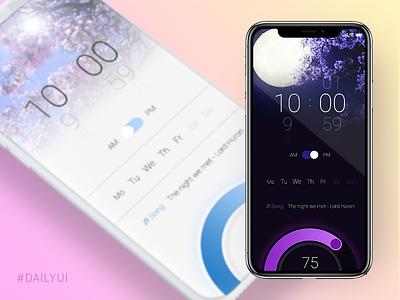 Daily UI 007 - Setting alarm app uidesign setting dailyui 007